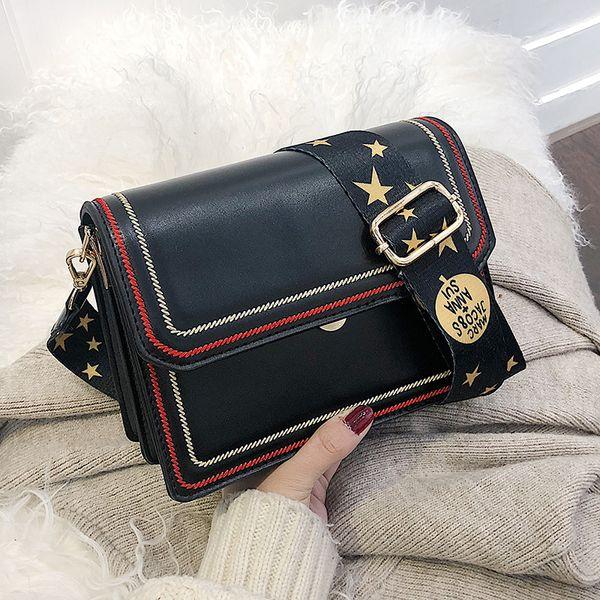Sacs à main en cuir de fil de broderie couleur Star sac à bandoulière pour femmes 2019 designer luxe dames bandoulière marques célèbres