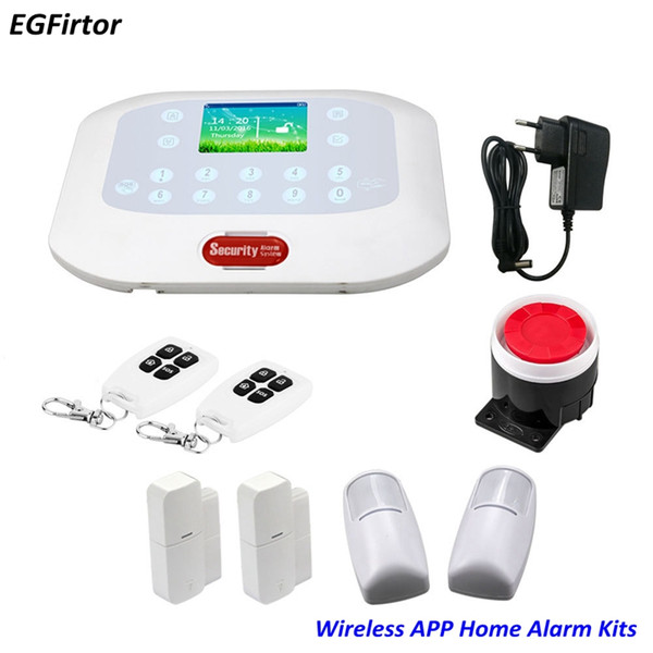 Preço de fábrica Dropshipping Alarme de Segurança Em Casa Inteligente Sem Fio Sistema de Alarme Home Kit Assaltante Com Controle Remoto GSM RFID Braço Disalarm
