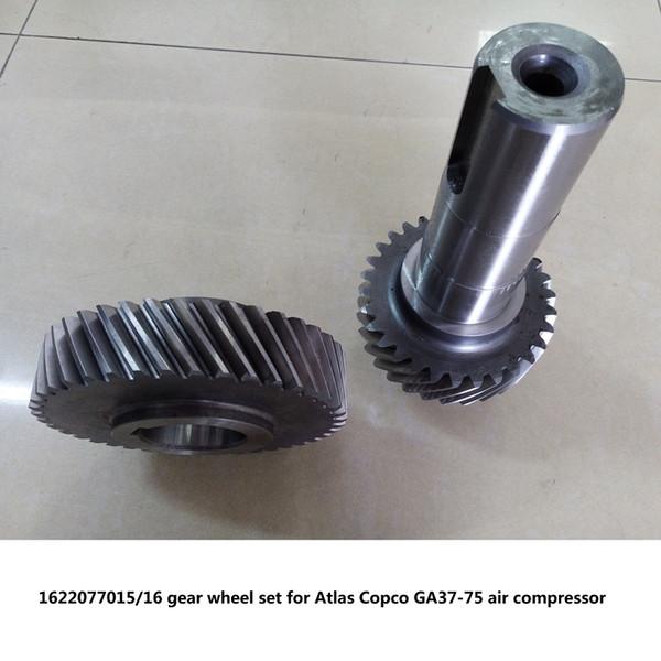 Free shipping Genuine gear wheel set driven gear shaft 1622077015/16 for Atlas Copco GA37-75 screw air compressor parts
