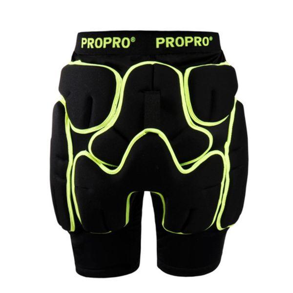 Propro Patineta Pantalones cortos de protección Caucho Esquí Patinaje de cadera Protector Brace Rodillo Ciclismo Bicicleta Paseo Deportes extremos Gea