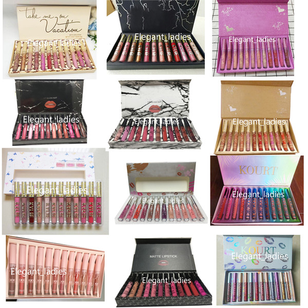 In tock 12color 1 et high quality 12 fa hion color matte lipglo waterproof la ting no fading dhl hipping