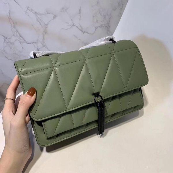 best selling New Fashion Designer Women Handbags Chain Crossbody Quilted bags Geometric Tassel Shoulder Handbags Genuine Leather Small bag Tote Pruse Bag
