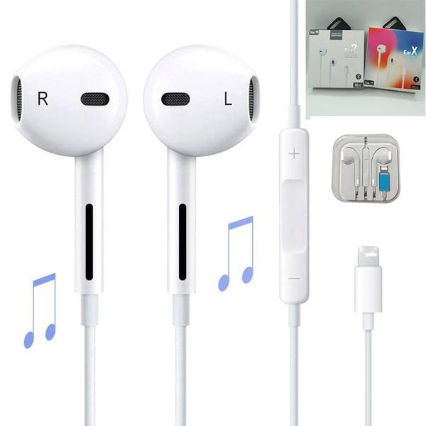 Écouteurs intra-auriculaires avec fil Bluetooth pour Apple iPhone XR XS Max 8 7 6 6S Plus 6 5 5S écouteurs avec microphone oreille téléphone