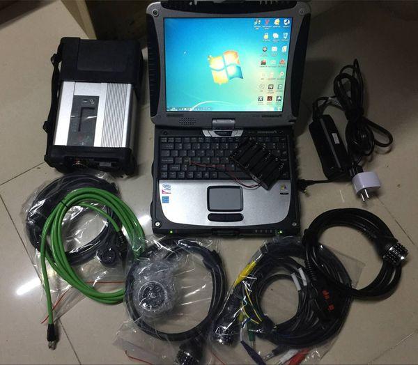 Scanner für mb star c5 mit cf19 laptop touchscreen 2019 neuestes 320gb hdd komplettes set-diagnosewerkzeug für mercedes benz
