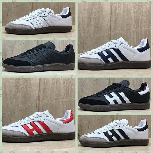 ASABAA Hot Samba trainers Mens Casual Shoes fashion designer Brand Leather gazelle og Black Pink Men Runner Womens Sneakers sports 36-45