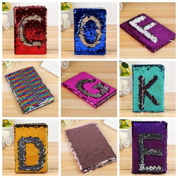 Lentejuelas Cuadernos Lentejuelas reversibles Bloc de notas Notas diarias Bloc de notas Papelería de negocios Papelería 78 hojas 16 diseños YW1443-1