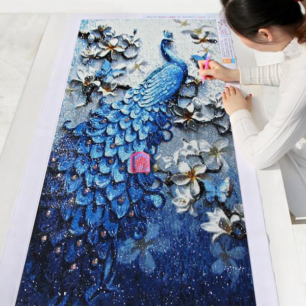 DIY Diamond Painting,Special Daimond accessories,Diamond Embroidery,Animal,Peacock,Full,Rhinestone,5D Diamond Mosaic,Decor