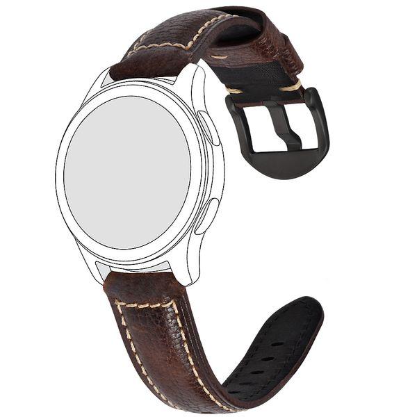 Pelle BEAFIRY olio abbronzato / Lichi Watch Band 19 millimetri 20 millimetri 21 millimetri 22 millimetri 23 millimetri 24 millimetri Marrone Blu cinghie cinturini per Uomo Donna Wirstband