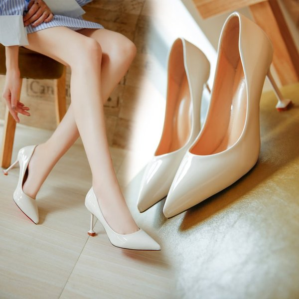 New Korean version of the pointed fashion wild high heels shallow mouth sexy stiletto women's shoes trend comfortable high heels