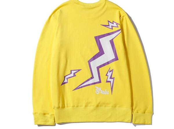 The latest tide brand T-shirt sweater fashion back lightning logo printing hoodie sweatshirt cotton comfort jacket men and women M-XXL