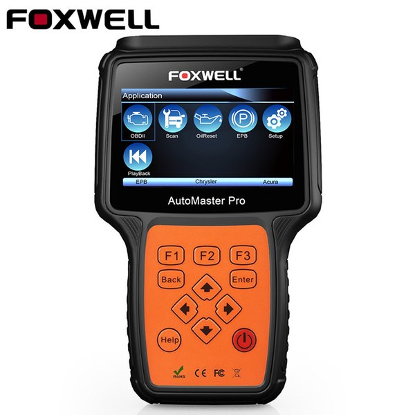 Original Foxwell NT624 All Systems with Portuguese Engine ABS Airbag Oil Service Reset Diagnostic Tool Automotive OBD2 Scanner