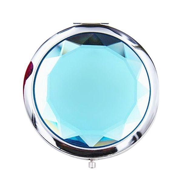 Women Girls Crystal Mini Beauty Home & Garden Pocket Mirror Makeup Portable Compact Round Folding Mirro ZJ0417