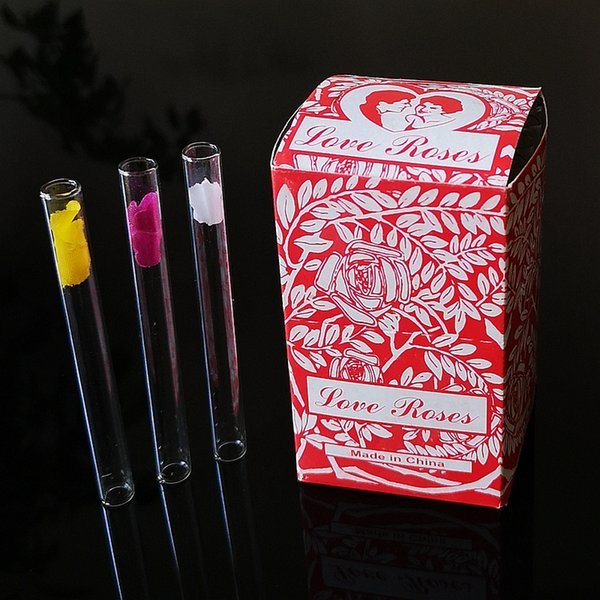 Tubo de vidro 36pcs Amor Rose Limpar fumadores Rig tubulações de óleo tubulações de água Mão Colher tabaco de tubulação Hookah AC133