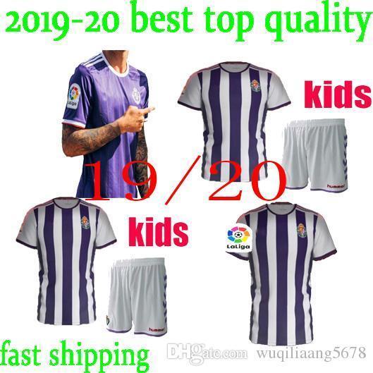 nuovo kit per bambini 19 20 maglie calcio Real Valladolid home 2019 2020 camisetas de fútbol 22 Martinez 5 Calero 14 Alcaraz 15 Unal shir football