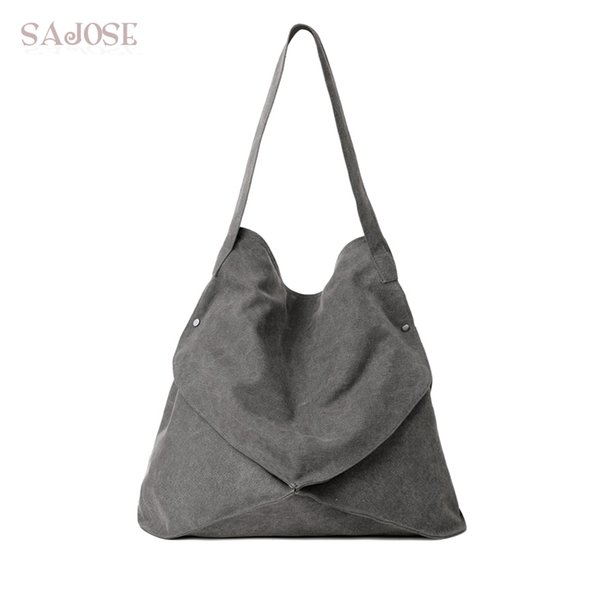 Women Canvas Bag Fashion High Quality Top-Handle Bags Female Hobos Shoulder Handbags Vintage Multi-pocket Casual Totes For Lady
