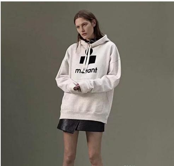 hot 18FW Marant Pullover Sweatshirts Isabel Hoodies Female Cardigan Women Sweater Casual Logo Streetwear Cotton Hoodies Tops HFLSWY213