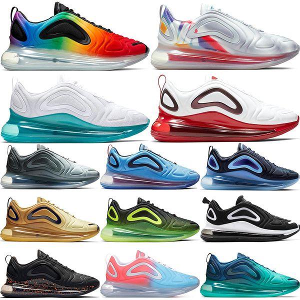 2019 Nike Air Max 720 hot new Be True Chaussures de course Hommes Femmes aurores boréales jour coucher de soleil rose mer Chaussures de sport Designer Sneakers Formateurs 36-45