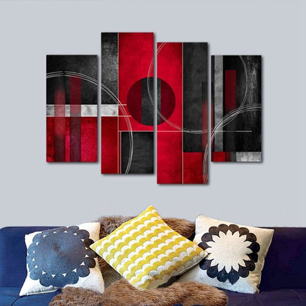 modern western decor.htm 2019 red black modern abstract posters modern design canvas  2019 red black modern abstract posters
