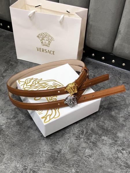 boucle d'argent or largeur classique ceinture en cuir femmes avec des ceintures de boîte womens hommes brun ceinture Livraison gratuite 2,0 cm 4043