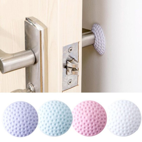 4 colors 5cm Golf Modelling Rubber Fender Handle Door Lock Protective Pad Home Wall Stickers Thickening Mute Fenders LX4915
