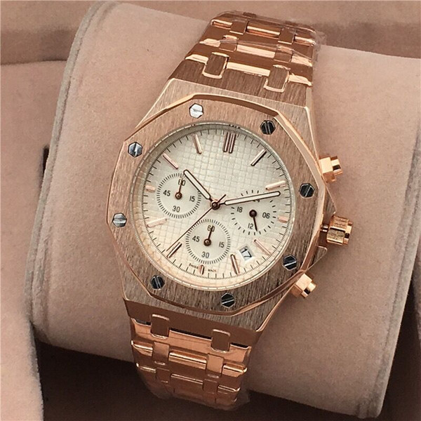 All subdials working Top quality Male date clock Hot sell Man Watch Leather Fashion wristwatch Luxury casual table Genuine leather Men watch
