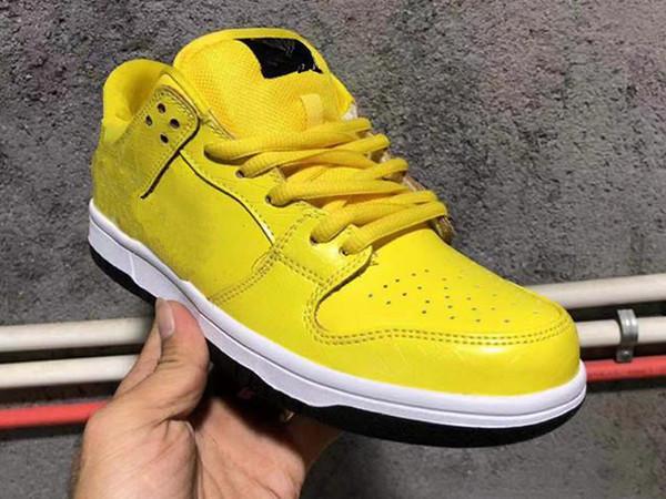 2019 Diamond Supply Co. x SB замочить низкий белый черный желтый мода кроссовки для высокого качества мужчины женщины Марка спортивные кроссовки 36-45