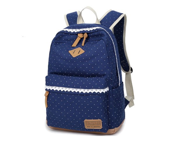 School Bag Boys/Girl Canvas Backpack Polka Dot Children Primary School Bag