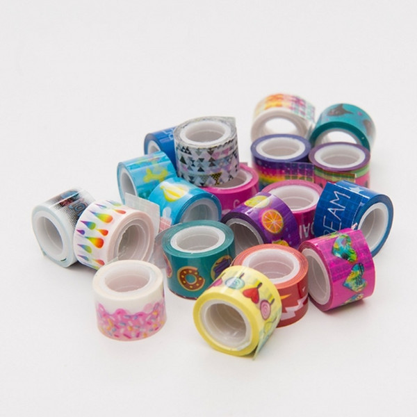 top popular 20pcs Mini Colorful Washi Tape Set Waterproof Painting Decorative Tape DIY Stickers Scrapbooking Labels Masking Tapes 1.1cm*2m T200229 2016 2021