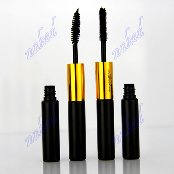 OEM private label two head 5ml*2 mascara black double head eyelash extension waterproof long lasting Silica gel brush head and Steel brush