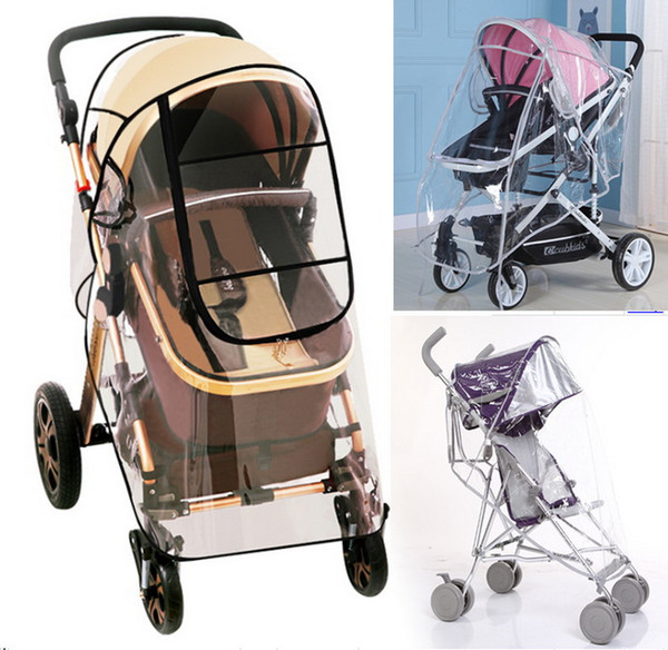 top popular DHL 20pcs Baby stroller rain cover PVC Universal Wind Dust Shield with windows For Strollers Pushchairs stroller accessories 2021