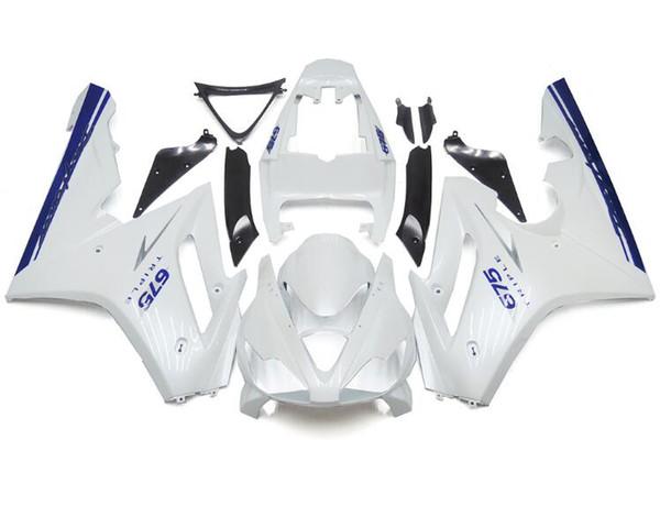 Nouveaux kits de carénages de moto en plastique ABS adaptés pour Triumph Daytona 675 06 07 08 2006 2007 2008 Carénage de carénage nice white blue