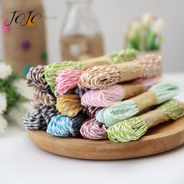 JOJO BOWS 12pcs Solid Paper Rope Cords For Needlework DIY Craft Supplies Gift Packing Material Home Textile Sewing Decoration