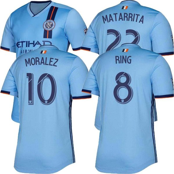 New York City Home Soccer Jersey 2019 NY City FC Soccer shirt Blue 19/20 player version home Adult Football uniforms