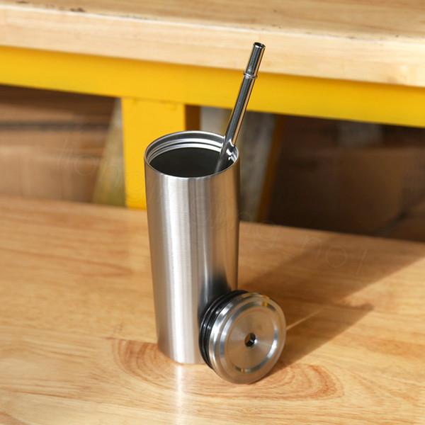 10 oz couvercle en acier Coupe double en acier inoxydable Paille voiture droite Coupe personnalisée Coupe isolée Drinkware en plein air Tumbler Tasses FFA3688
