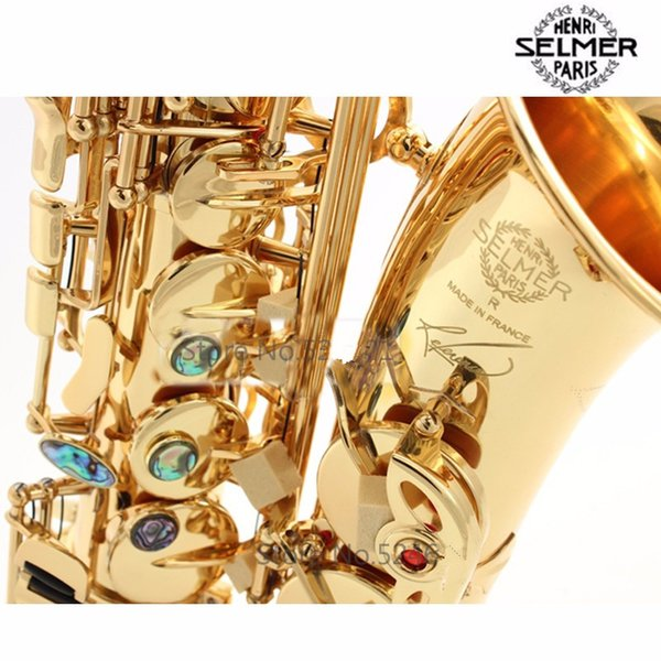 High-quality France Selmer Henri Alto Saxophone R54 Sax Bb Falling Saxpohone Gold Plated with Mouthpiece Alto Popular Musical Instruments