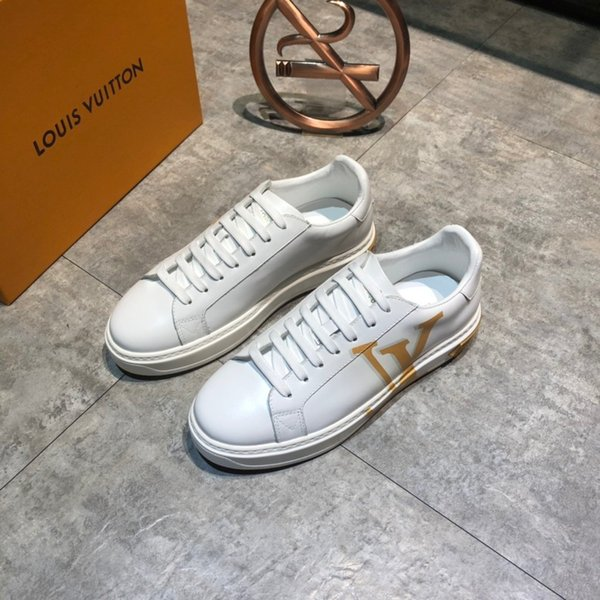 2020 da uomo scarpe firmate surface en cuir de qualité supérieure est imprimé avec des lettres yellwo marques de luxe Plate-forme chaussures casual # 2F