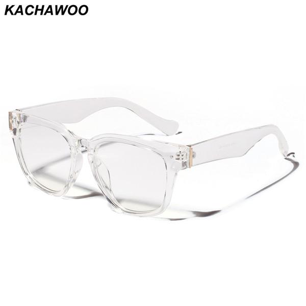 Kachawoo Transparent Eyeglasses For Women Optical Retro Black Square Glasses Frame Men Unisex Gift Items Dropship