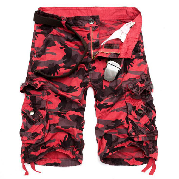 Pantalones cortos de carga Hombres Pantalones cortos de carga de camuflaje de algodón ocasionales Pantalones cortos de verano para hombre Hiphop Pocket Camo Pantalones de chándal cortos Bermudas masculinas
