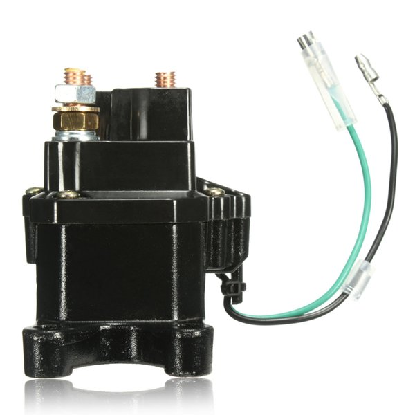 New Universal 12V Solenoid Relay Contactor Winch Rocker Switch Thumb For ATV/UTV