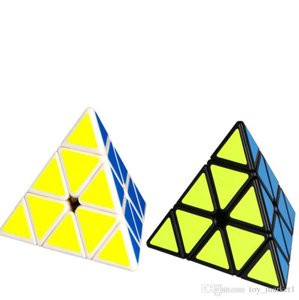 Third order triangle four sided Kids cube toy fast professional magic cube childrens puzzle strange shape toy wholesale free shipping