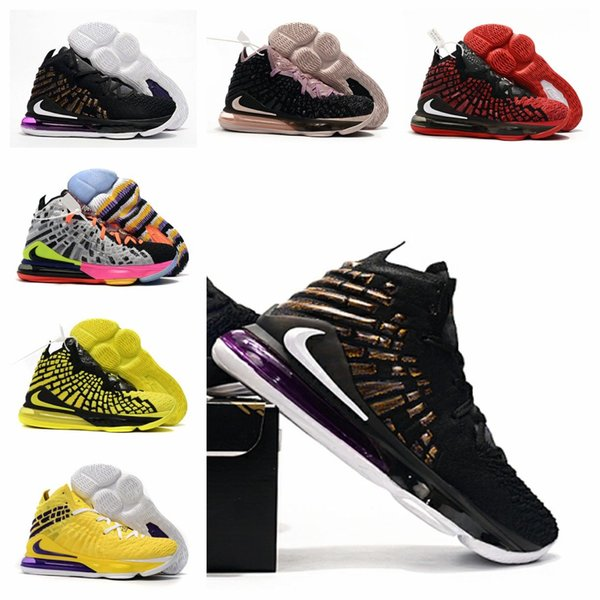 top popular 2019 LeBrons 17 Hot lbj 17 equality XVII basketball shoes LBJ Laker men james sneakers watch the throne King 16 oreo LeBron 17 equality 2019