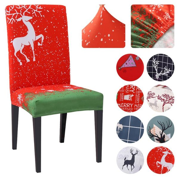 Dining Chair Covers Washable Stretch Removable Slipcover Decor Wedding Christmas