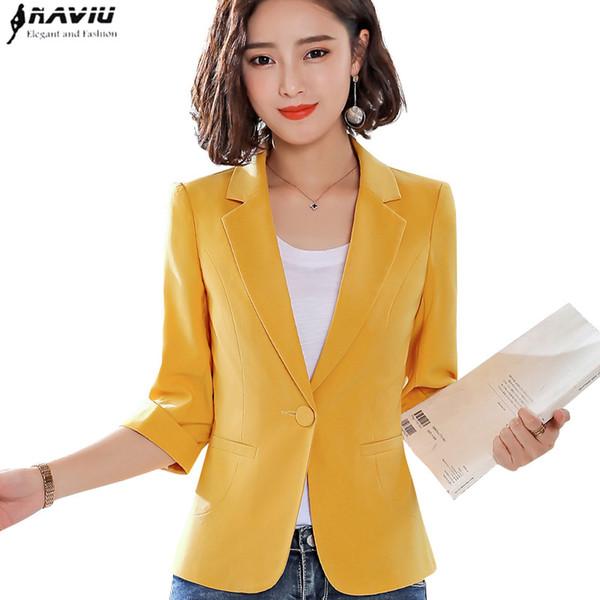 Высокого качество белой куртки корейской версии женщины моды случайный темперамент небольшой пиджак офис леди стиль пиджак формальная одежда