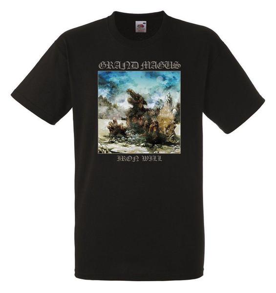 Fer Grand Magus Noir Herren T-shirt des hommes T-shirt Rock Band
