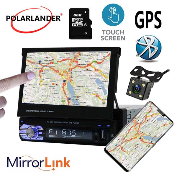 Bluetooth GPS 7 Inch Touch Screen Mirror Link Car Radio Player MP5 12 Multi  Language Stereo FM USB TF Video 1 Din Cheap Car Audio Speakers Cheap Car
