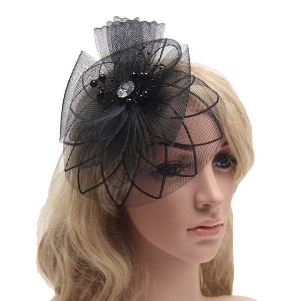 1 pcs/lot Fascinator Women French Veiling Hair Headband with Clip Vintage Fashion Lady Party Accessories 9 colors