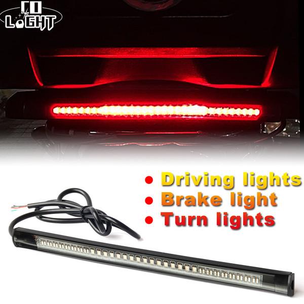 Universal Led Strip 48Leds Flexible Stop Running Light DC 12V Motorcycle Turn Signal Brake Tail Strip for Car ATV Niva
