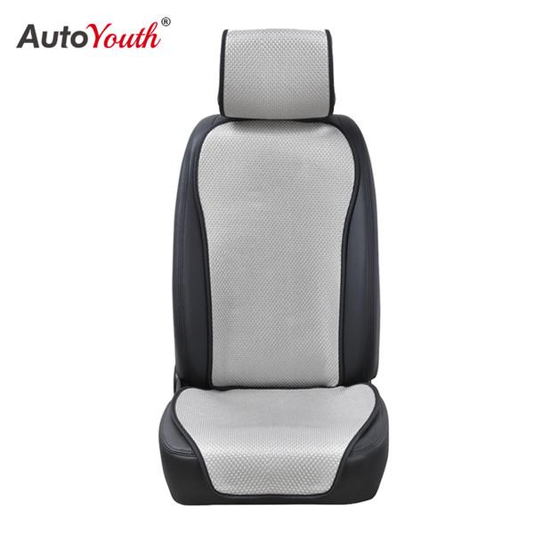 AUTOYOUTH Cojín de asiento de coche de seda de hielo refrescante y transpirable Suave y lleno de dureza Protector de asiento de coche 1PCS Pad Most