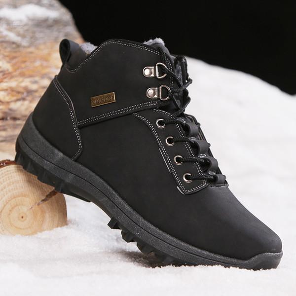 Peluş Erkekler Bilek Botaş Hombre ile Kış Erkekler Outdooor Boots Plus Size Yüksek Kalite Unisex Yürüyüş Ayakkabı Kürk Boots Boyutu 47 Isınma