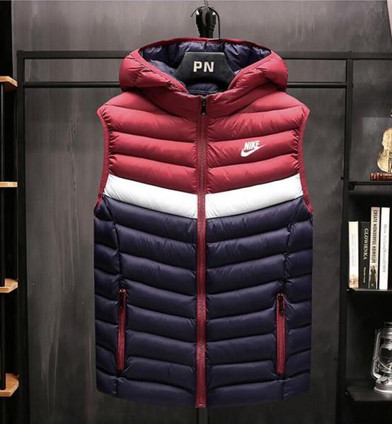 Les nouvelles femmes d'hommes veste veste casual mode hiver épaississent gilet à capuchon chaud unisexe manteau Gilets HHH47561